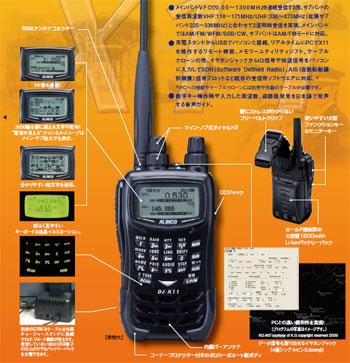 広帯域受信機DJ-X11