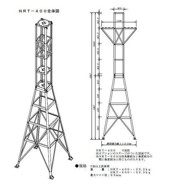ナガラルーフタワーNRT-600